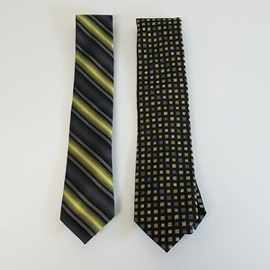 Two ties, VanHeusen Studio and Stafford